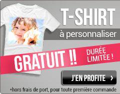 T-Shirt à personnaliser offert (5.90€ frais de port)