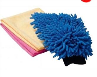 Kit de nettoyage : Gant + 2 microfibres