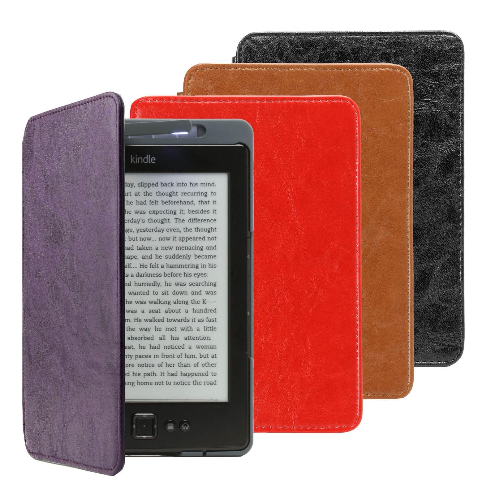 Étui en cuir avec lampe intégrée pour Kindle