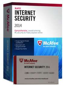 McAfee Internet Security 2014 - Licence 1 an, 3 postes