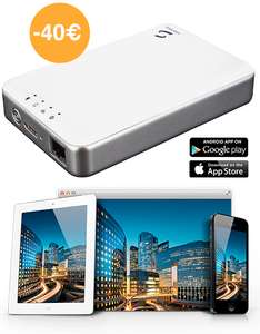 Disque dur sans fil Mac/PC, iOS et Android Storeva X-Air blanc 1 To 2,5""