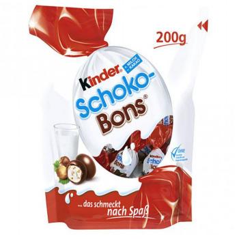 2 paquets de 200gr de Kinder Schoko-bons