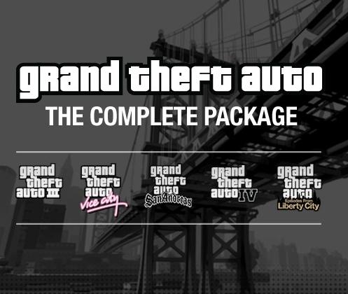Jusqu'à 80% sur la série GTA sur PC - Ex : Grand Theft Auto The Complete Package