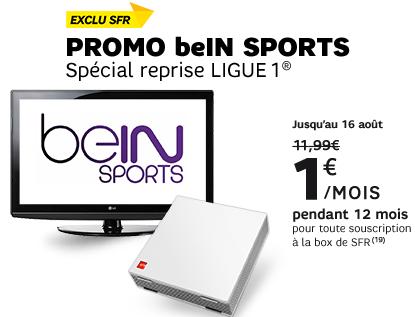 Nouveaux clients : BeIN Sports avec la Box de SFR pendant 12 mois, par mois