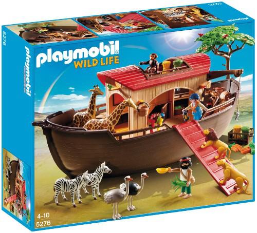 Playmobil : Grande arche des animaux + 2 lots de 2 chevaliers + Agent de sécurité et écoliers