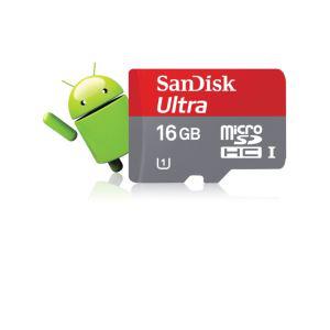 Carte mémoire microSDHC Sandisk 16 Go classe 10