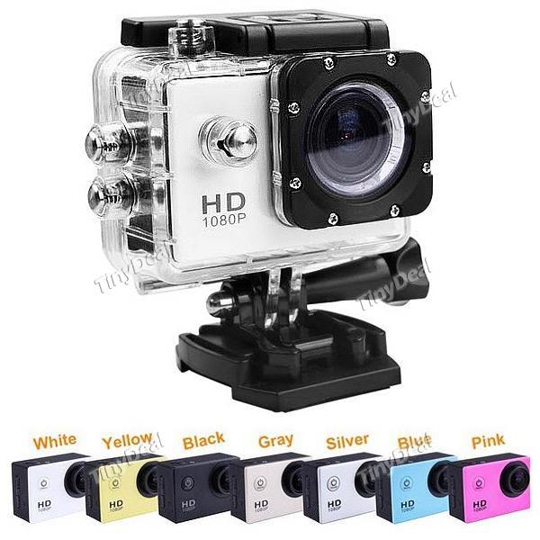 Caméra sportive SJ4000 (12MP 1080P) + accessoires