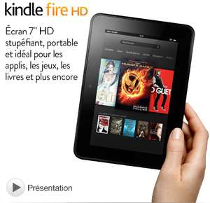 "Kindle Fire HD 7"" (Reconditionné Certifié) Wi-Fi - 16 Go"