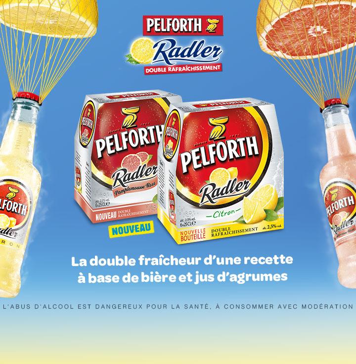 Pack de 6x25cl Pelforth Radler Pamplemousse Rose ou Citron
