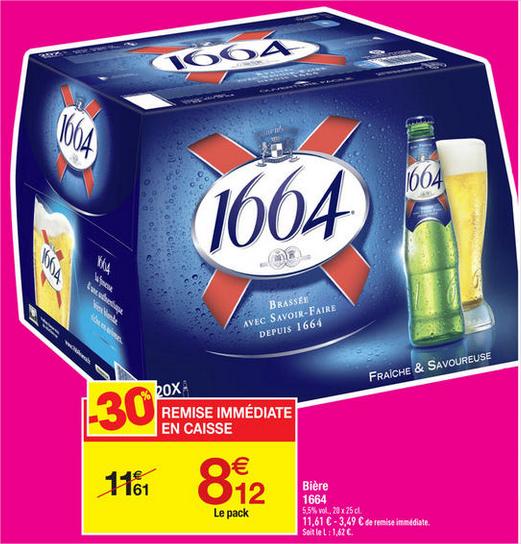 Pack de 20 bières 1664 (20x25cl)