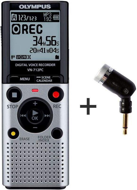 Dictaphone Olympus VN-712 PC + Micro mono ME-52