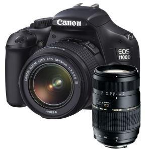 Reflex Canon EOS 1100D + EF-S 18-55mm DC III + Trépied à T'nB à 299.99€ ou + Tamron 70-300mm