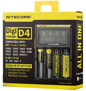 Chargeur intelligent Nitecore Digicharger D4 LCD