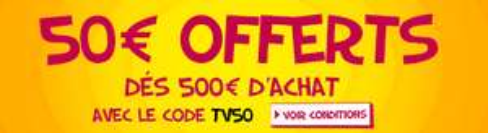 50€ de réduction dès 500€ d'achat dans le rayon Image / Son