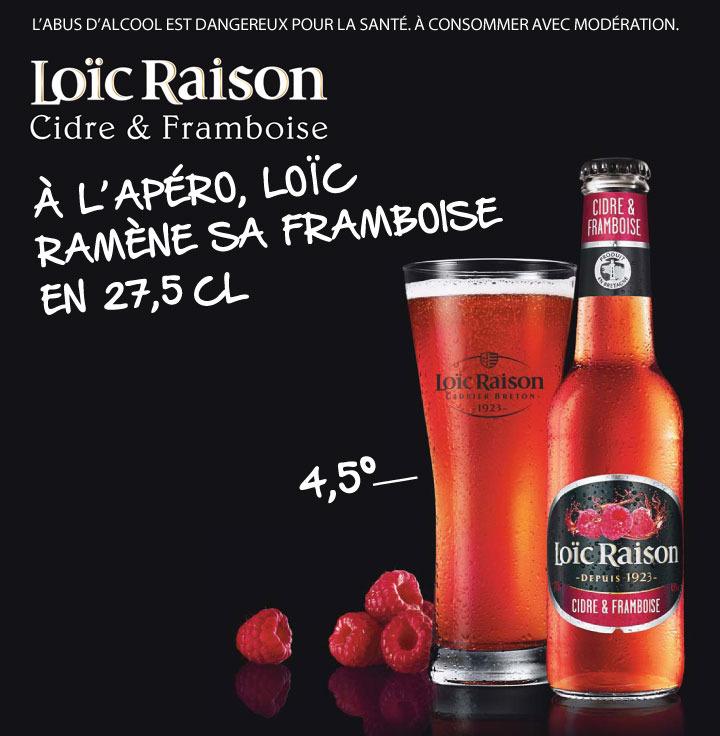 Bouteille Loic Raison Cidre & Framboise 75cl