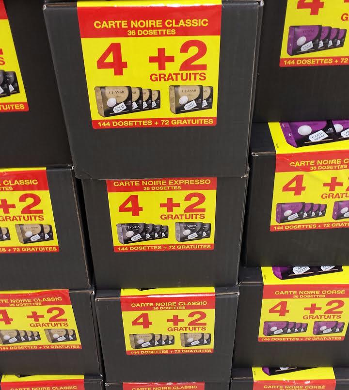 Lot de 216 dosettes Carte Noire (Classic, Corsé ou Expresso) pour Senseo