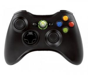 Manette sans fil noire Xbox 360