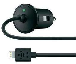 Chargeur voiture iPhone Belkin lightning 2.1A (1.2m) noir