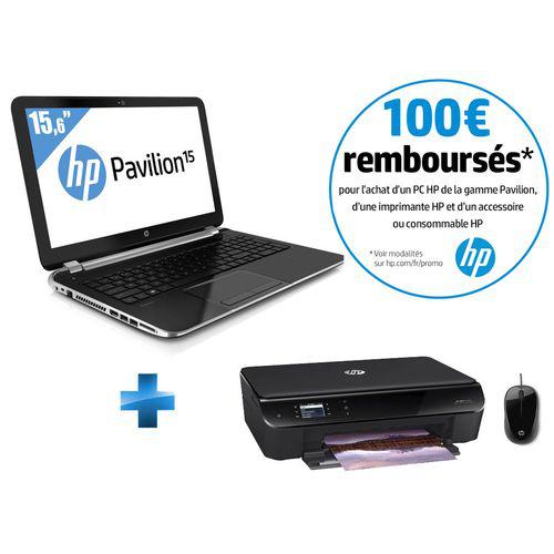 PC Portable HP Pavilion 17-E150NF - Ecran 17,3'', i7 + Imprimante HP Envy 4500 + Souris filaire HP (100€ ODR)