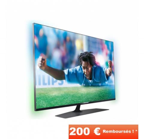 """Téléviseur 42"""" UHD 4K Ambilight Philips 42PUS7809 (Avec ODR 200€)"""