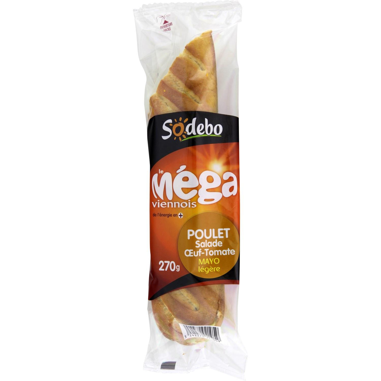 Lot de 2 sandwichs Sodebo le méga viennois