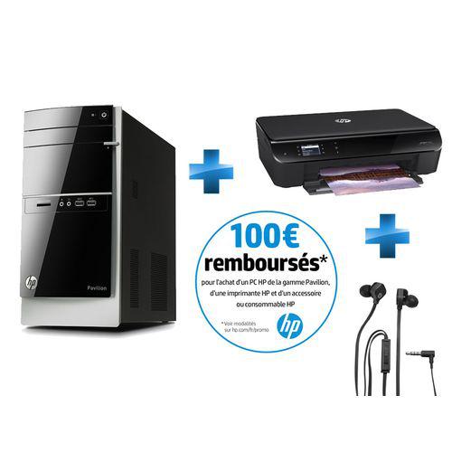 PC Fixe HP 500-378nf + imprimante HP Envy 4500 Multifonction 3 en 1 WiFi + Casque HP (avec odr 100€)