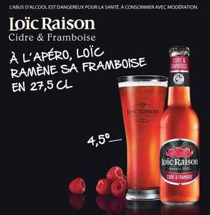Cidre & Framboise Loïc Raison 3x27,5cl gratuit (avec gain)