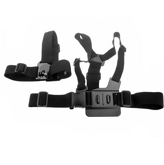 Harnais de poitrine + frontal pour caméra sportive GoPro / AEE SDxx / SJ4000