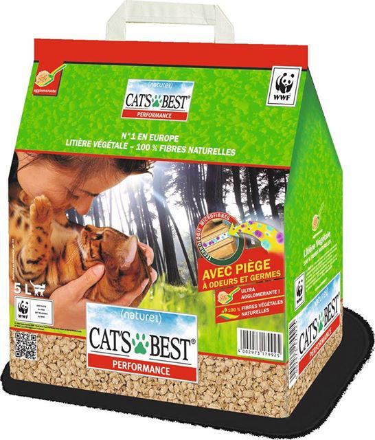 Litière végétale pour chat Cat's Best 5L