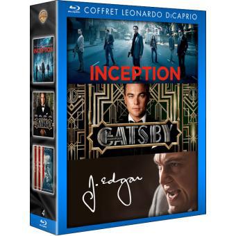 Coffret Blu-ray 3 films Leonardo Dicaprio (Inception, Gatsby, J.Edgar)