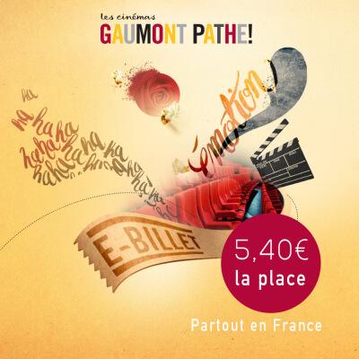 Places de cinéma Gaumont Pathé (valable du 3 au 24 septembre)