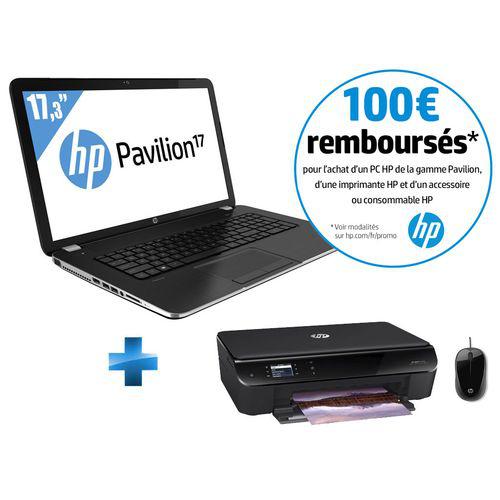 """PC portable 17"""" HP Pavilion 17-E158NF + Imprimante HP Envy 4500 + Souris filaire HP (avec ODR 100€)"""