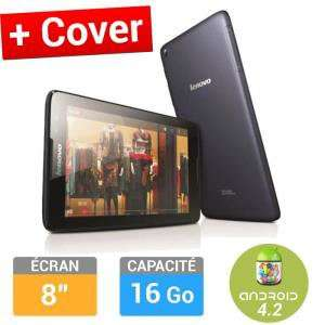 "Tablette 8"" Lenovo IdeaTab A8-50/8121 16Go + Etui Folio Noir + adaptateur Molex/Sata (avec ODR de 30€)"