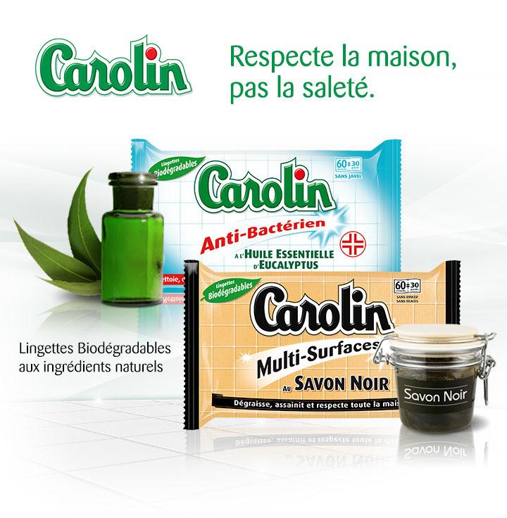 2x Lingettes anti bactérien ou savon noir Carolin gratuites