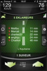 Application iPhone EKLAIREUR (anti-radar) gratuit