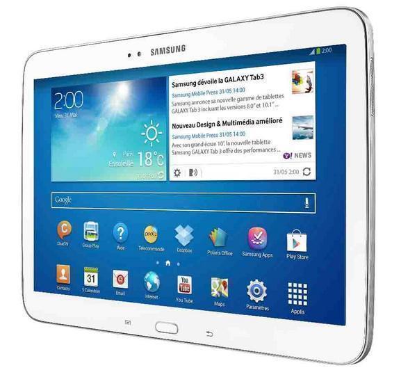 """Tablette Samsung Galaxy Tab 3 10,1"""" 16Go - Blanc (avec ODR 30€)"""
