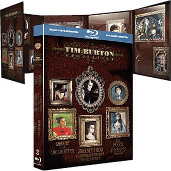 Coffret Blu-Ray 3 films de Tim Burton (Sweeney Todd, Les Noces funèbres et Charlie et la chocolaterie)