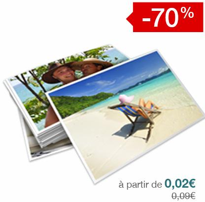 -70% sur les tirages photo