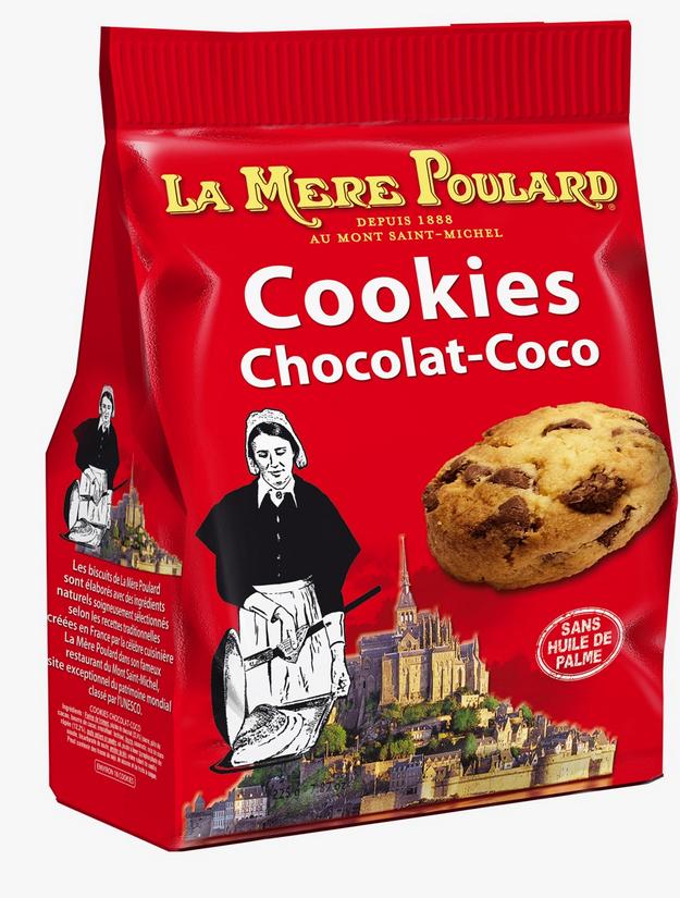 Jusqu'à -50% sur la gamme La Mère Poulard - Ex : Cookies au chocolat 300g