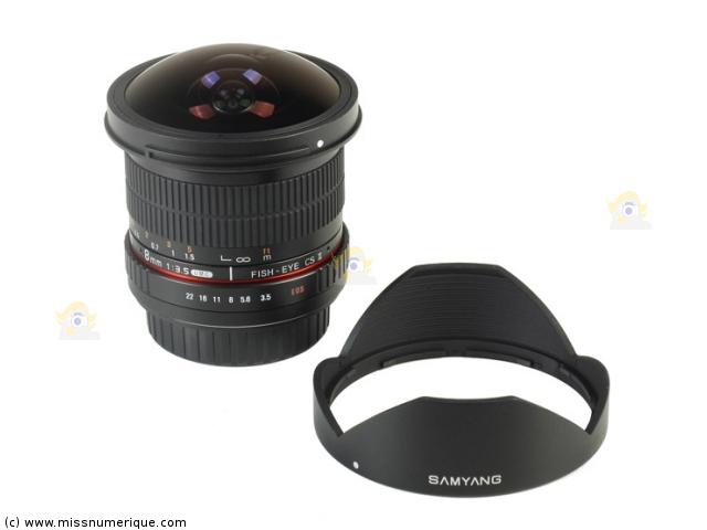 Objectif Samyang 8 mm monture Sony A Objectif fisheye