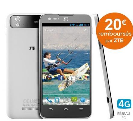 Smartphone ZTE Grand S Flex 4G (40€ ODR)