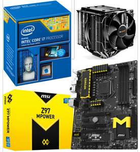 Processeur Intel Core i7 4790K+ Carte Mère MSI Z97 MPower + Ventirad Be Quiet Dark Rock Pro 3 (ODR 45€)