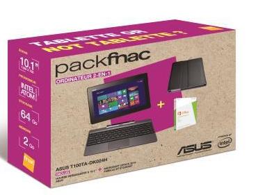 [MàJ prix] Pack Asus Transformer Book T100TA-DK024H 64Go + Housse + Microsoft office 2013 (OFFRE ADHERENT)