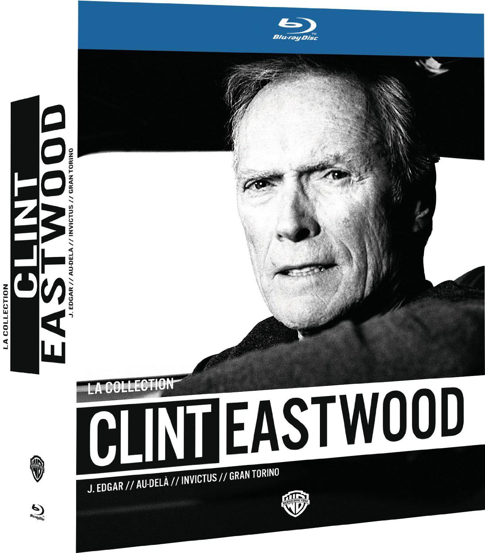 Coffret 4 Blu-ray Collection Clint Eastwood : J. Edgar + Au-Delà + Invictus + Gran Torino