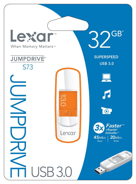 Clé USB 3.0 Lexar JumpDrive S73 16 Go à 9.49€, 32 Go