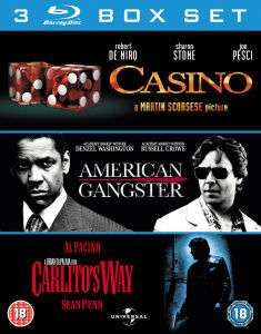 Coffret Blu-Ray 3 films Gangster (Casino, American Gangster et L'impasse)