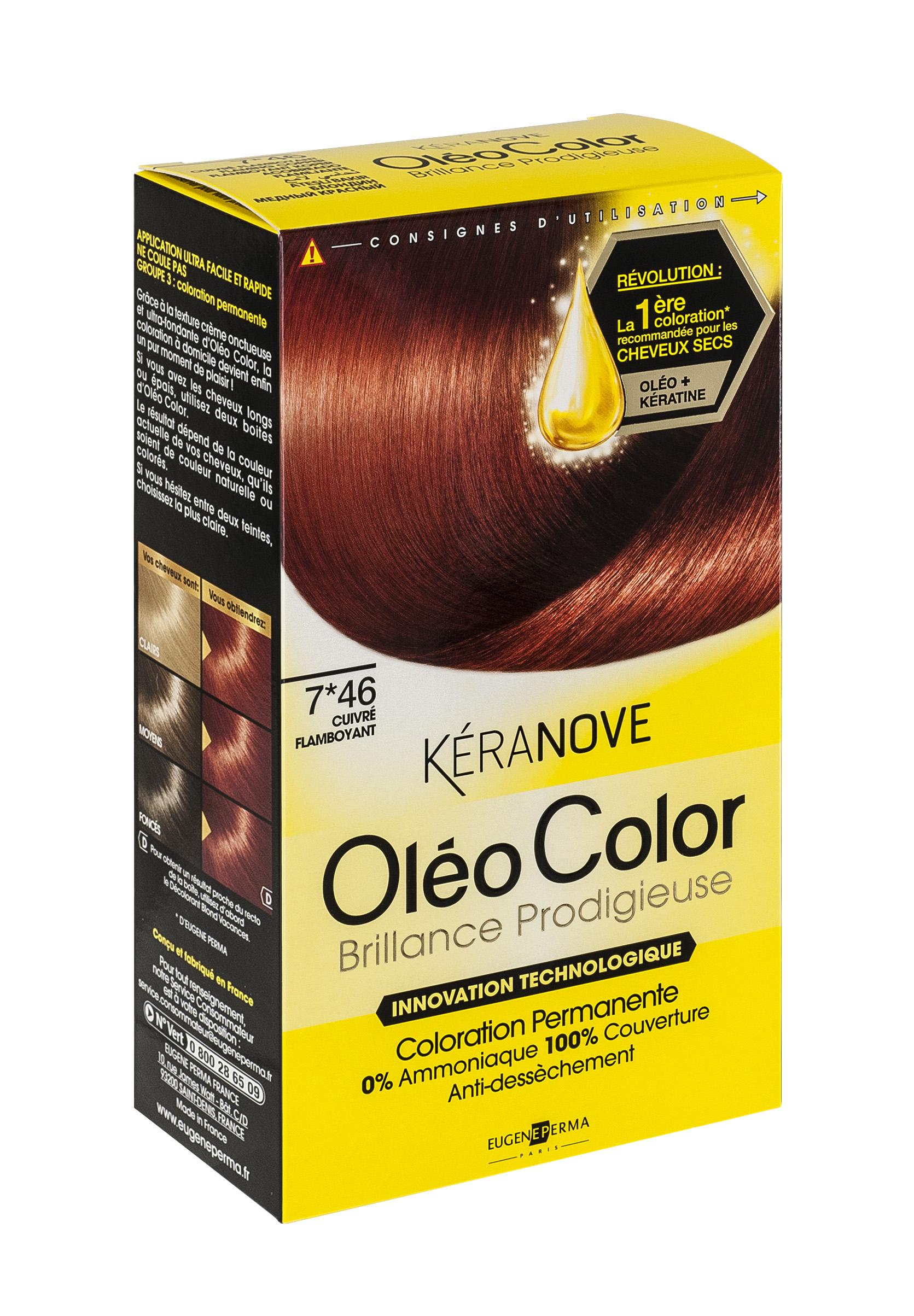 Coloration Oléo Color Kéranove (différences nuances)