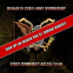 Abonnement Cyber Fan Club de Megadeth pour 1 an