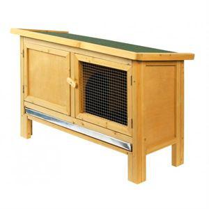 Clapier en bois Jojo pour lapins - 93 x 39 x 60 cm