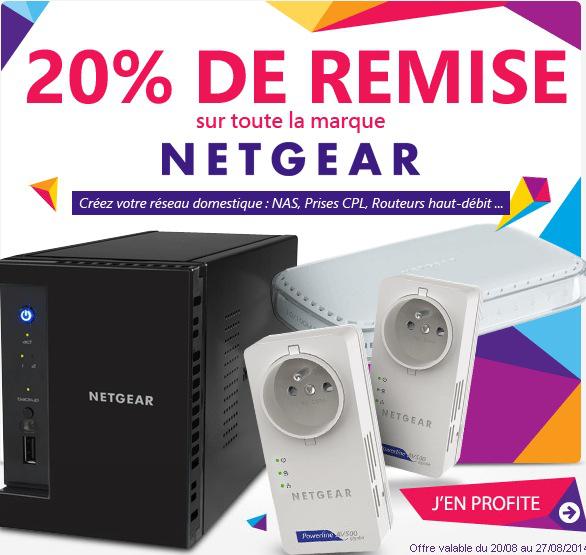 -20% sur une sélection de 171 produits de la marque Netgear